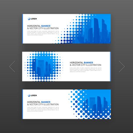 Abstract corporate horizontal banner or web slideshow templates set
