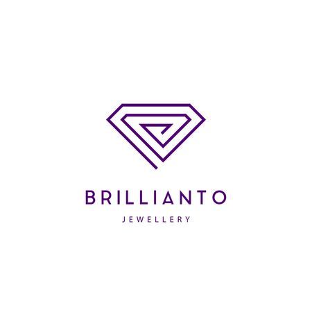 Jewelry company logotype. Jewelry icon. Diamond sign vector illustration