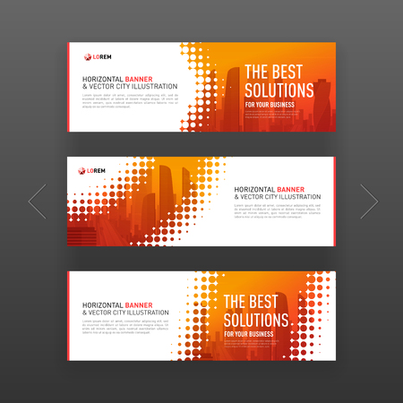 Abstract corporate horizontal banner or web slideshow template. Illustration