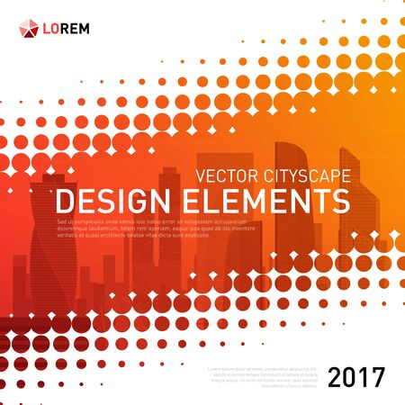 Design element for corporate graphic layout