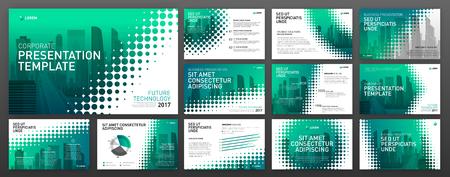 Business presentation templates set. Use for presentation background, brochure design, website slider, corporate report.
