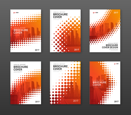 Brochure cover design template for business or investment company.