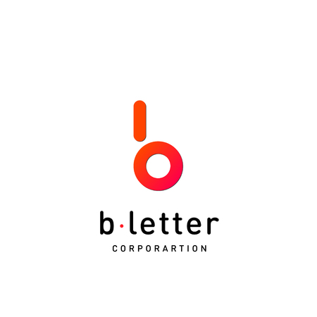 Letter B vector logo design template for corporate identity. Decorative letter B icon template layout Standard-Bild - 110970876