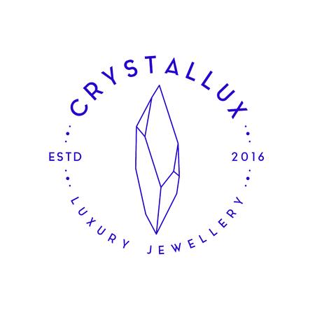 Modern vector jewellery or bijouterie logo concept for jewel boutique or jewellery company. Ilustração