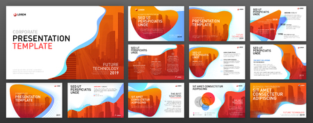 Business presentation templates set. Use for presentation background, brochure design, website slider, landing page.
