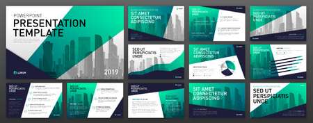 Business presentation templates set. Use for presentation background, brochure design, website slider, landing page, corporate annual report report brochure cover.