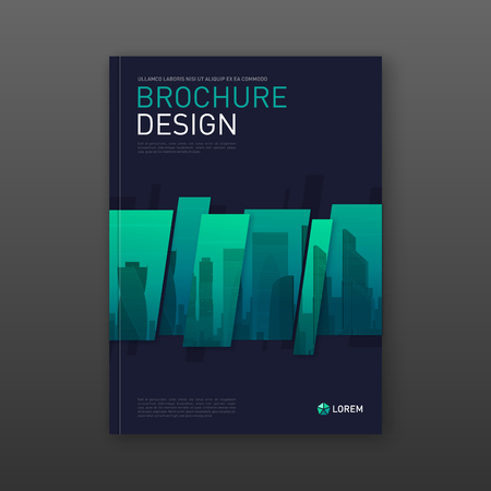 Business brochure cover design layout. Good for corporate catalog, annual report, poster, flyer, company profile cover Illustration
