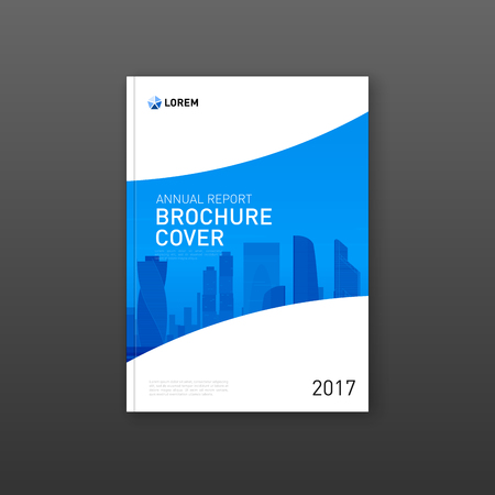 Corporate brochure cover design layout. Good for catalog, annual report, poster or flyer.