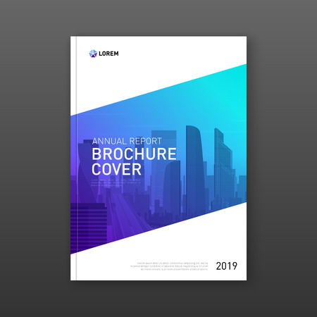 Business brochure cover design layout. Good for real estate catalog, annual report, magazine cover, poster, flyer, company profile cover