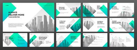 Business presentation templates set. Use for modern presentation background, brochure design, website slider, landing page, annual report, company profile. Illustration