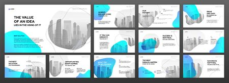 Business presentation templates set. Use for modern presentation background, brochure design, website slider, landing page, annual report, company profile. Illustration