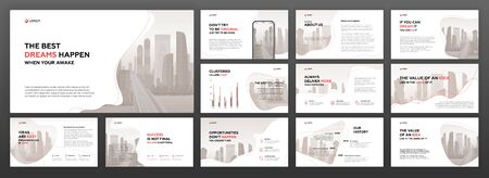 Business presentation templates set. Use for presentation background, brochure design, website slider, landing page, annual report.