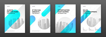 Corporate brochure cover design template for business. Good for annual report, magazine cover, poster, company profile cover Banque d'images - 138260271