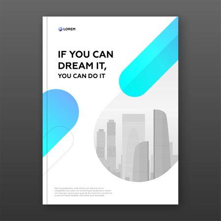 Corporate brochure cover design template for business. Good for annual report, magazine cover, poster, company profile cover Archivio Fotografico - 138467507