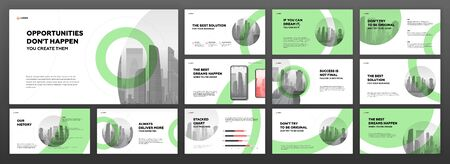 Modern presentation templates set. Use for modern presentation background, brochure design, website slider, landing page, annual report, company profile.