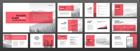 Modern presentation templates set.