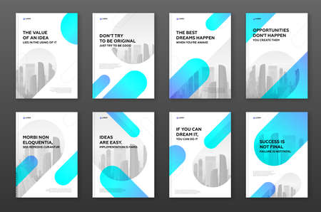 Corporate brochure cover design template for business. Good for annual report, magazine cover, poster, company profile cover