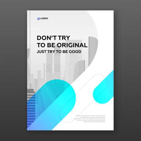 Corporate brochure cover design template 矢量图像