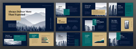 Modern presentation templates set. Use for modern presentation background, brochure design, website slider, landing page, annual report, company profile.