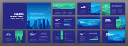Creative presentation templates set. Use for creative presentation background, brochure design, website slider, landing page, annual report, company profile. 免版税图像
