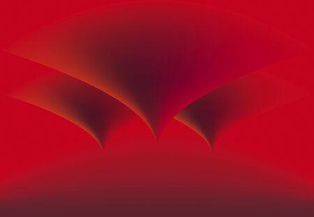 rubin: red background  three cone looking down in rubin light
