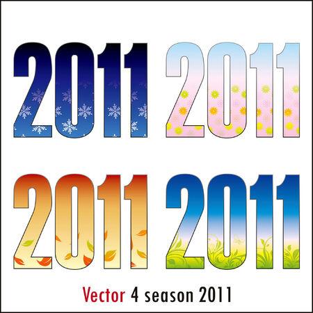 4 season 2011 in color Vector