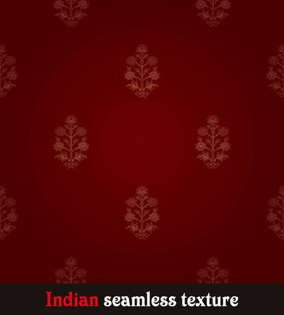 indian pattern: seamless red Indian wallpaper Illustration