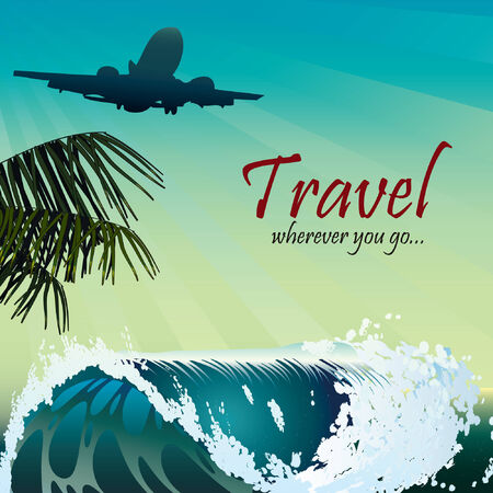 hiking trail: Travel style wave palm air sky tropic
