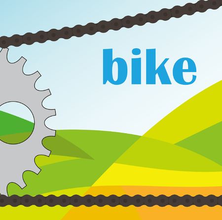 bike chain on the nature background  Vector
