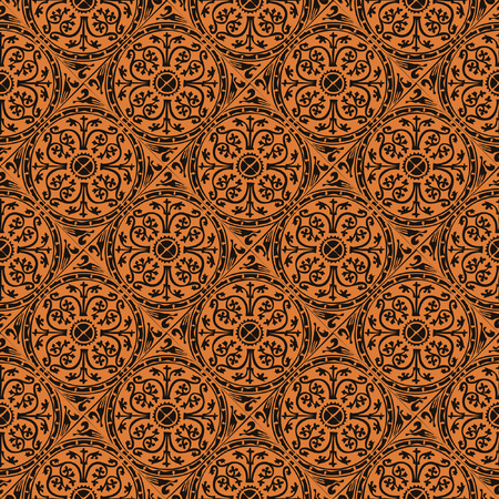 antique wallpaper: seamless red gothic wallpaper