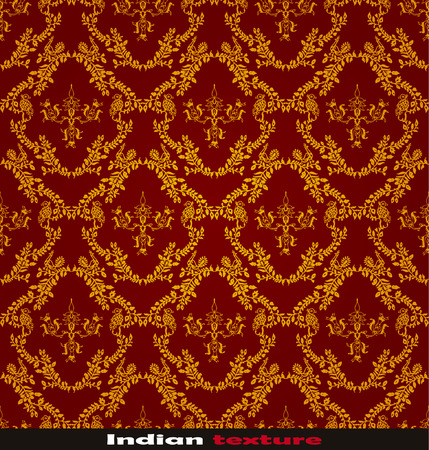 india pattern: seamless red Indian wallpaper Illustration