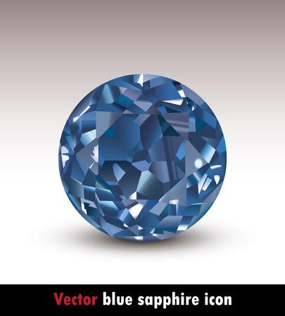saffier: vector blauwe saffier pictogram eps 8 Stock Illustratie
