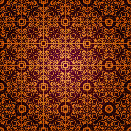 seamless gothic wallpaper Stock Vector - 8438448
