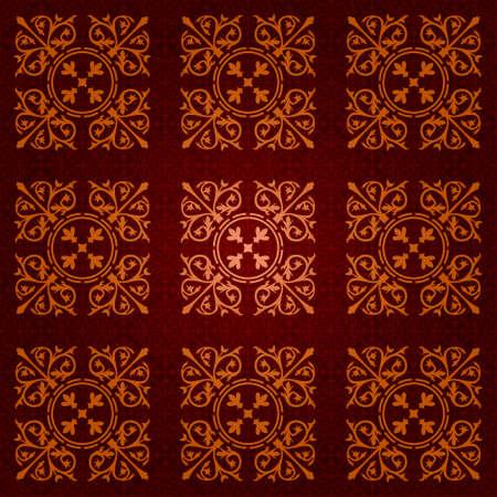 seamless gothic wallpaper Stock Vector - 8438506