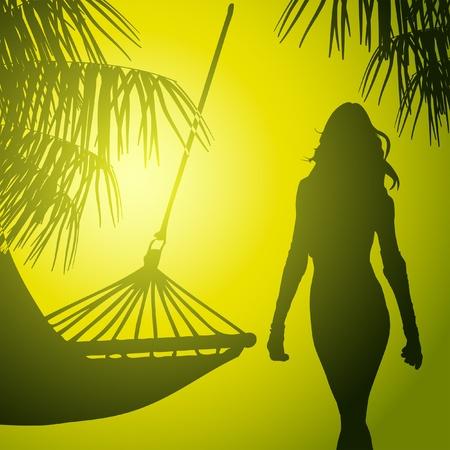 tropic beach in jungle