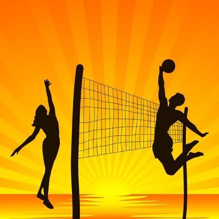 volleybal op het tropische strand