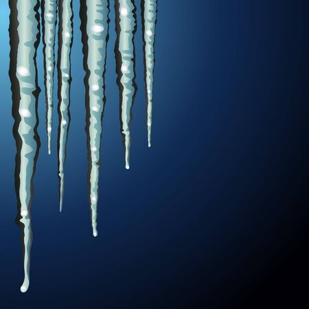 icicle: icicle on blue Illustration