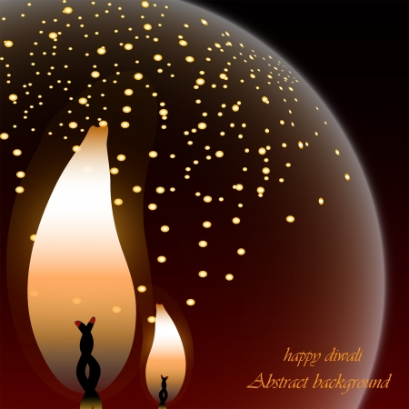 christmas fire: abstract background Illustration