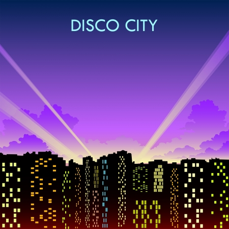 night disco city Vector