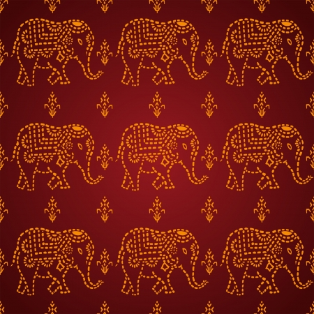 seamless Indian Elephant Vector