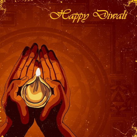 deepawali: Happy Diwali background Illustration
