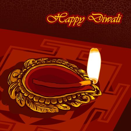 Happy Diwali background Stock Vector - 14404744