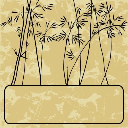 japones bambu: Tarjeta de bambú con estilo