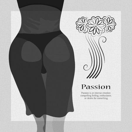 vintage woman body Vector