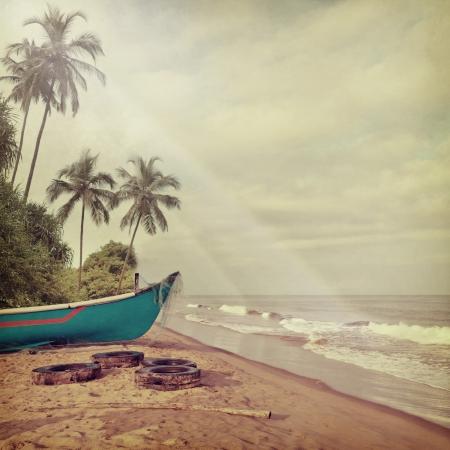 Fond de plage Vintage Banque d'images - 19714842