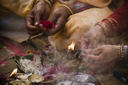 hindu ceremony in Nepal Reklamní fotografie