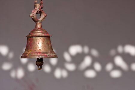 hinduist: bronze bell in an hinduist temple, Thakurdwara, Nepal