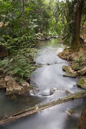 waterfall in the forest, at Sai Yok national park, Thailand