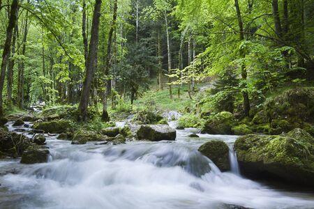 jura: long exposure, waterfall in Jura moutains, France