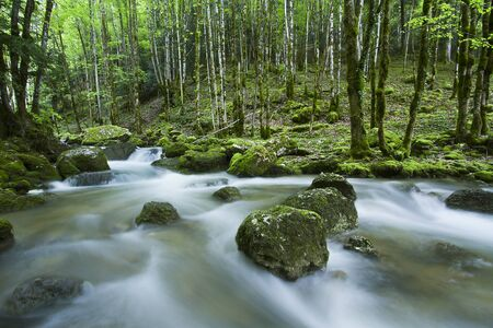 long exposure: long exposure, waterfall in Jura moutains, France